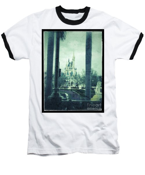 Castle Between The Palms Baseball T-Shirt by Jason Nicholas