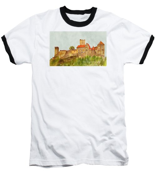Castle Hardegg Baseball T-Shirt by Angeles M Pomata