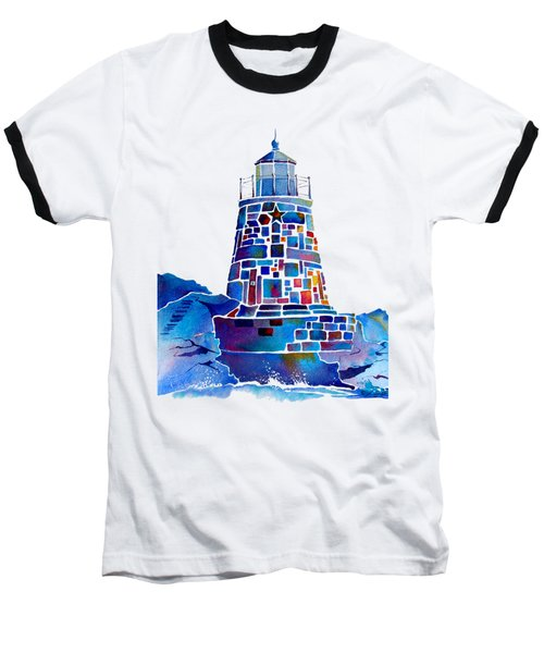 Castle Hill Newport Lighthouse Baseball T-Shirt