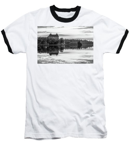 Castle In Black And White Baseball T-Shirt