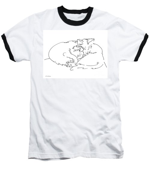 Cat Drawings 2 Baseball T-Shirt