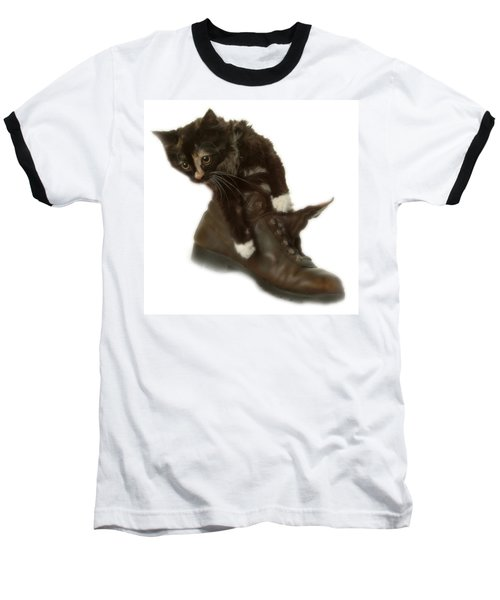 Cat In Boot Baseball T-Shirt
