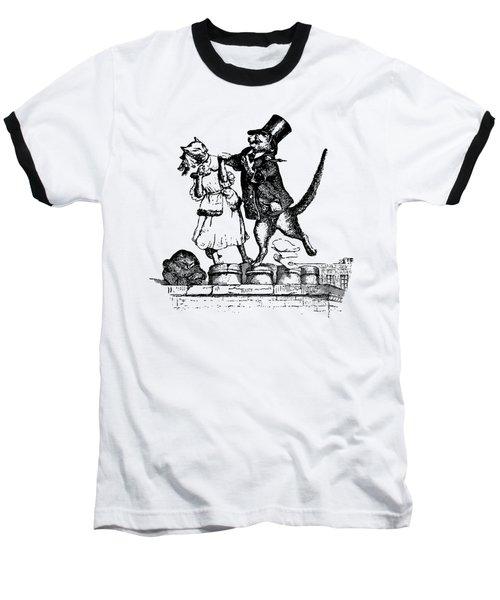 Cat Love Grandville Transparent Background Baseball T-Shirt