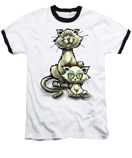 Cat N Kitten Baseball T-Shirt
