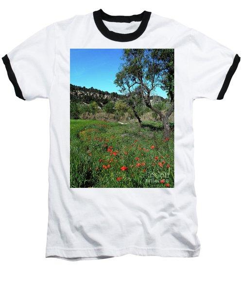 Catalan Countryside In Spring Baseball T-Shirt by Don Pedro De Gracia