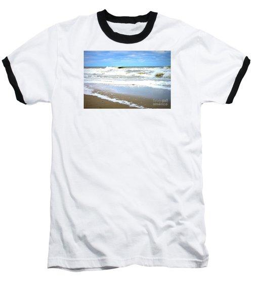 Catch A Wave Baseball T-Shirt by Shelia Kempf