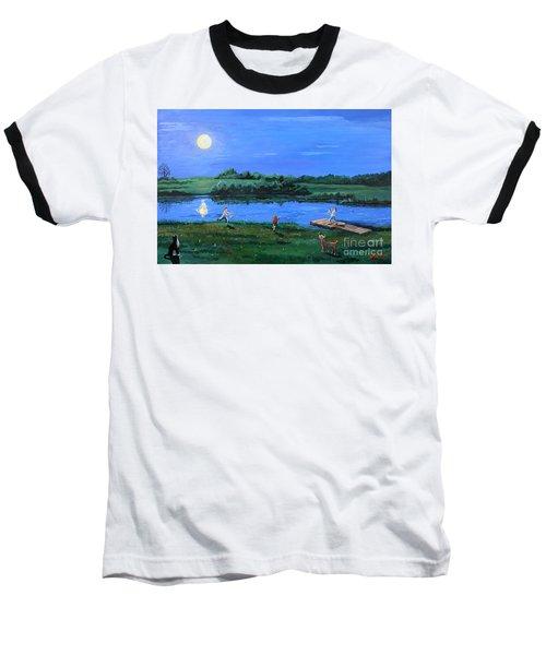 Catching Fireflies By Moonlight Baseball T-Shirt