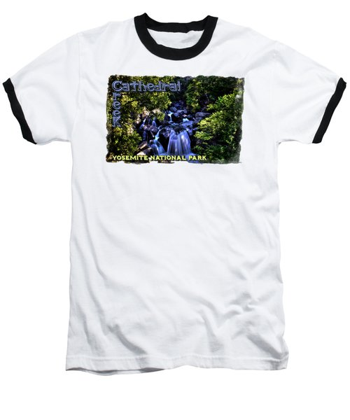 Cathedral Creek Cascade On The Tioga Pass Baseball T-Shirt by Roger Passman