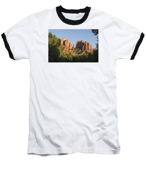 Cathedral In The Trees Baseball T-Shirt by Laura Pratt