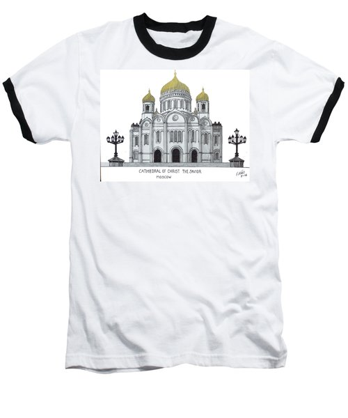 Cathedral  Of Christ The Savior - Moscow Baseball T-Shirt by Frederic Kohli