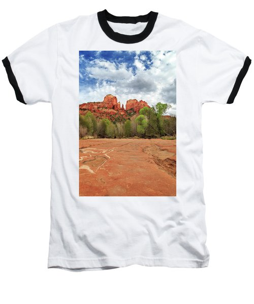 Baseball T-Shirt featuring the photograph Cathedral Rock Sedona by James Eddy