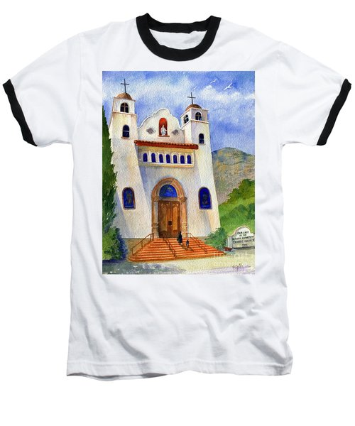 Catholic Church Miami Arizona Baseball T-Shirt by Marilyn Smith