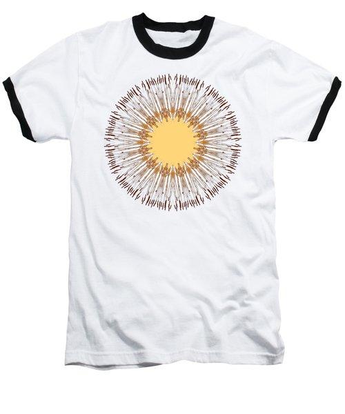 Cattail Mandala - Baseball T-Shirt