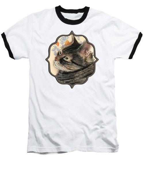 Baseball T-Shirt featuring the painting Cattitude by Anastasiya Malakhova