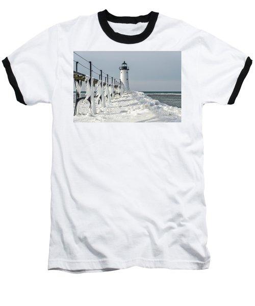 Catwalk With Icy Fringe - Horizontal Version Baseball T-Shirt