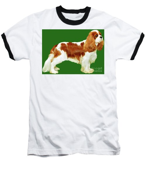 Cavalier King Charles Spaniel Baseball T-Shirt by Marian Cates