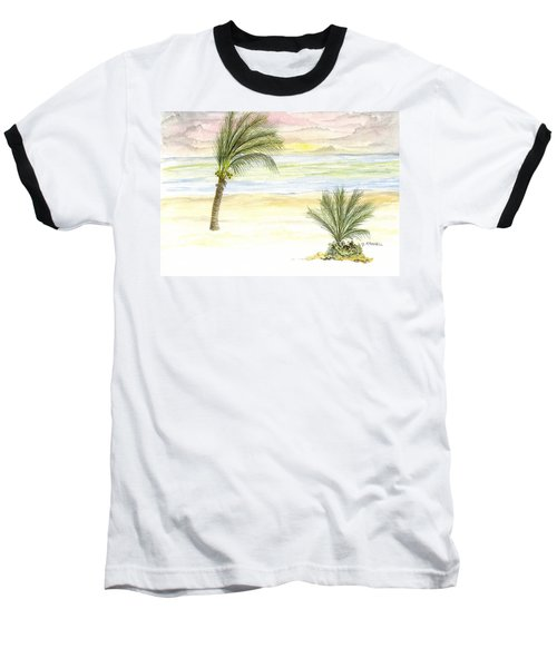 Cayman Beach Baseball T-Shirt