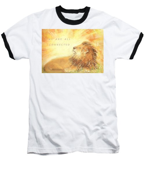 Cecil The Lion Baseball T-Shirt by Denise Fulmer