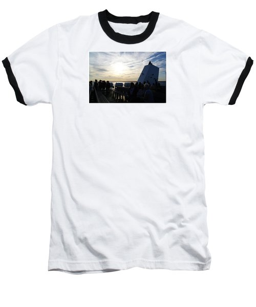 Baseball T-Shirt featuring the photograph Celebrating The Sunset by Margie Avellino