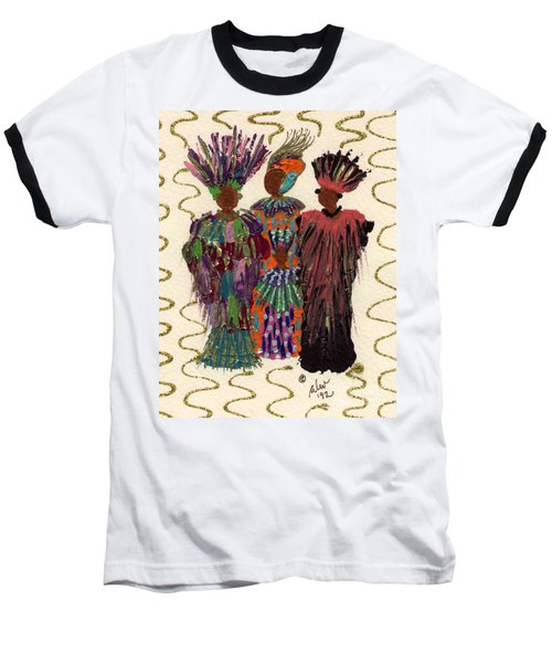 Baseball T-Shirt featuring the mixed media Celebration by Angela L Walker