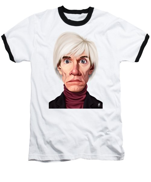 Celebrity Sunday - Andy Warhol Baseball T-Shirt by Rob Snow