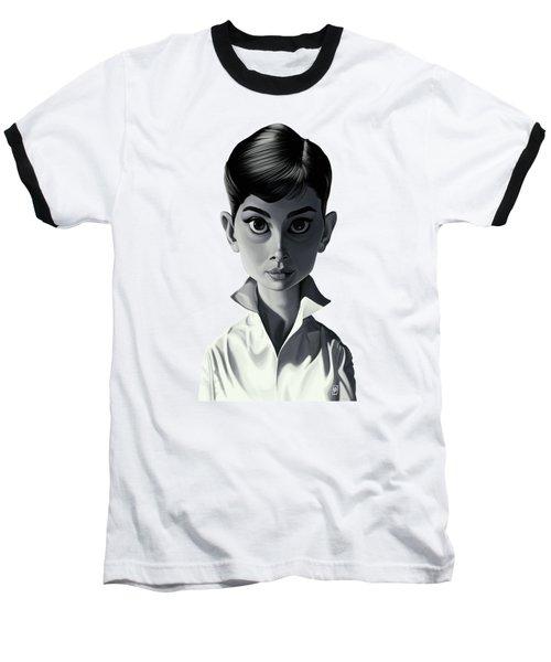 Celebrity Sunday - Audrey Hepburn Baseball T-Shirt