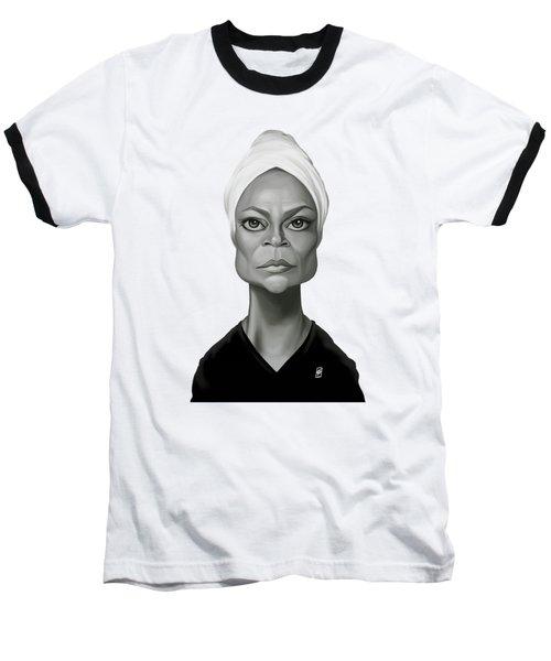 Celebrity Sunday - Eartha Kitt Baseball T-Shirt