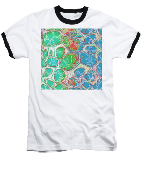Cell Abstract 10 Baseball T-Shirt by Edward Fielding