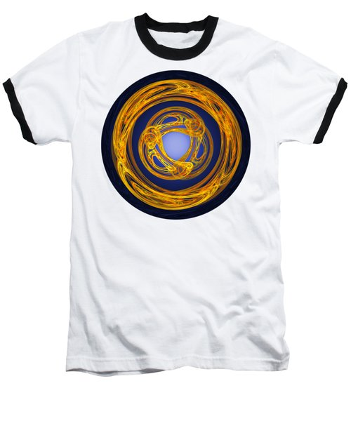 Baseball T-Shirt featuring the digital art Celtic Abstract On Blue by Jane McIlroy