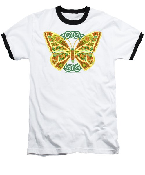 Celtic Butterfly Baseball T-Shirt by Kristen Fox