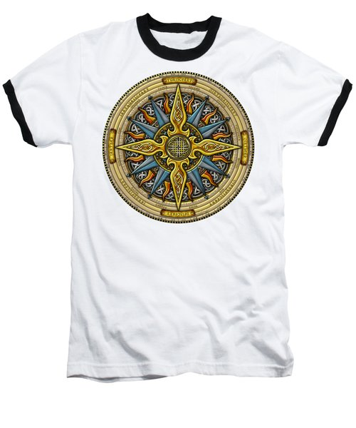 Celtic Compass Baseball T-Shirt by Kristen Fox