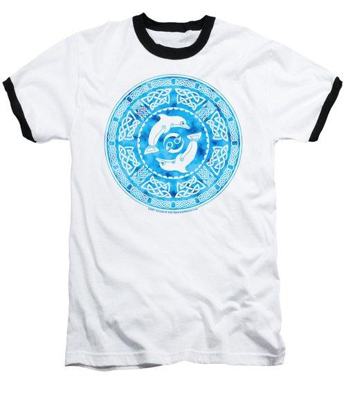 Celtic Dolphins Baseball T-Shirt
