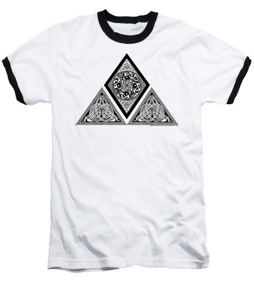 Celtic Pyramid Baseball T-Shirt by Kristen Fox