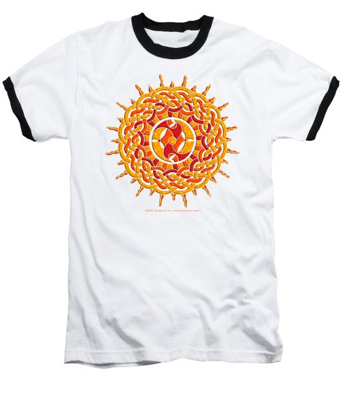 Celtic Sun Baseball T-Shirt by Kristen Fox