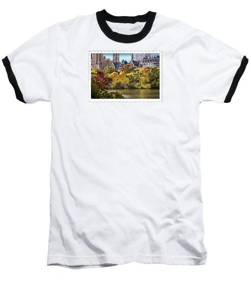 Central Park Lake In Fall Baseball T-Shirt
