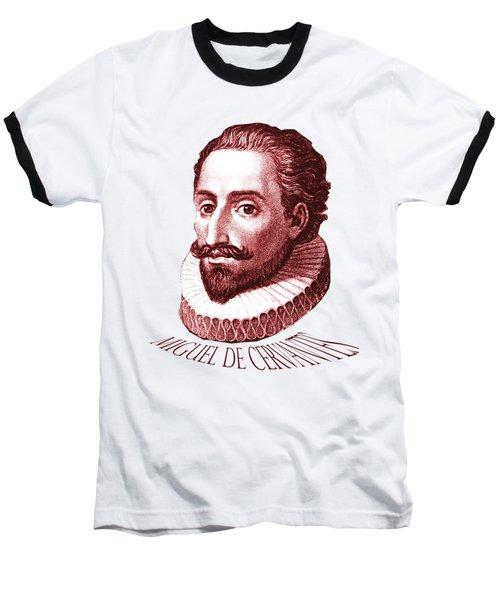 Cervantes Baseball T-Shirt by Asok Mukhopadhyay