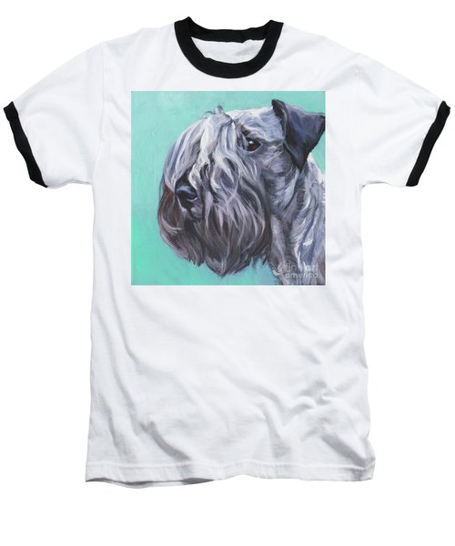 Baseball T-Shirt featuring the painting Cesky Terrier by Lee Ann Shepard
