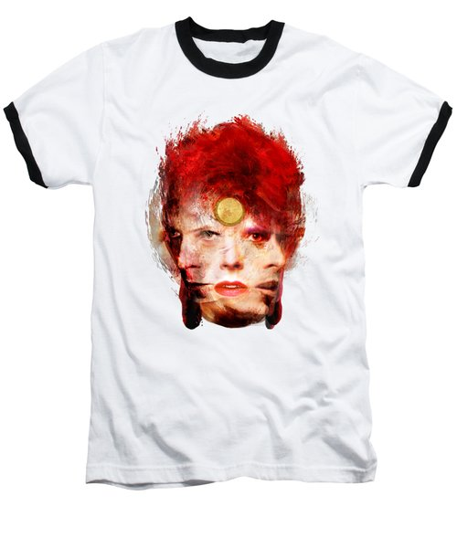 Ch Ch Changes David Bowie Portrait Baseball T-Shirt by Big Fat Arts