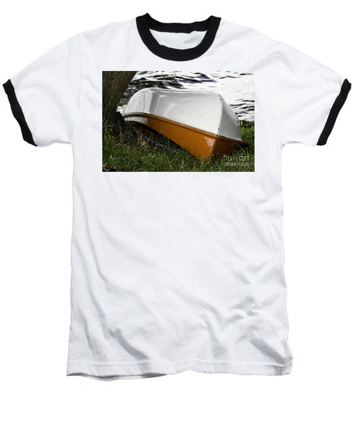 Baseball T-Shirt featuring the photograph Chained Little Boat Just Waiting by Yurix Sardinelly