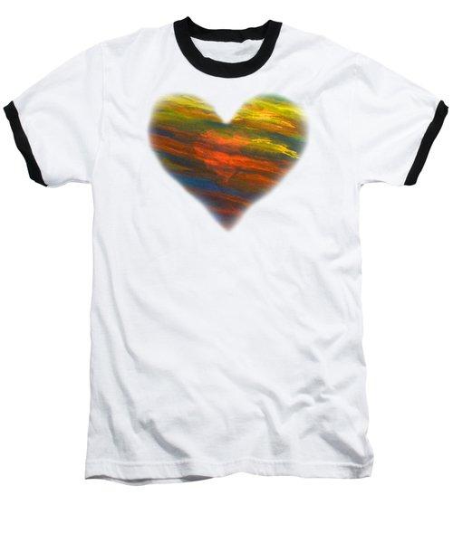 Chakra Energy With Heart Baseball T-Shirt by Deborha Kerr