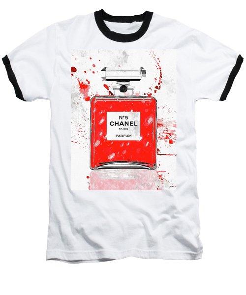 Chanel No 5 Red Baseball T-Shirt