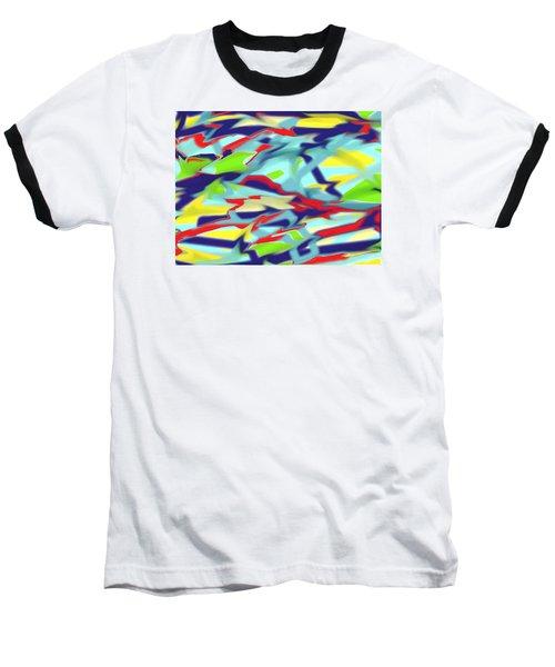 Chaos Into Form Blue Baseball T-Shirt