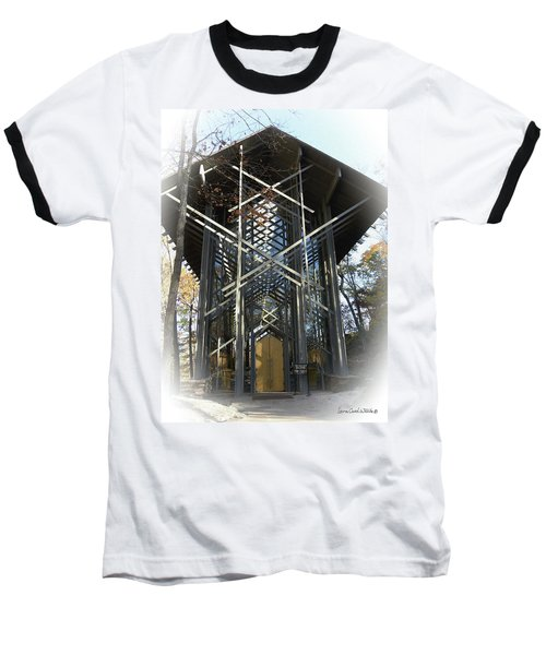 Baseball T-Shirt featuring the photograph Chapel In The Woods by Lena Wilhite