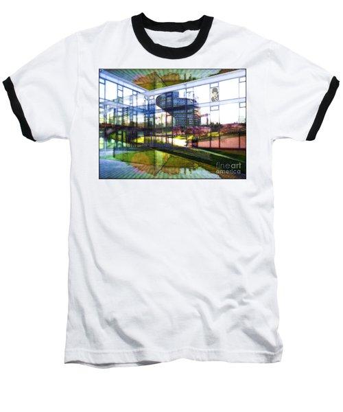Chaplin Ihn Strassburg Baseball T-Shirt by Mojo Mendiola