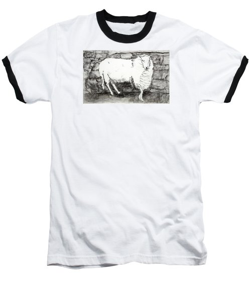 Charcoal Sheep Baseball T-Shirt