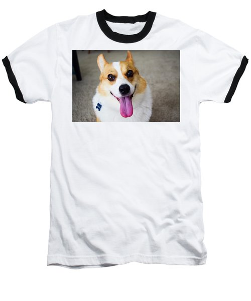 Charlie The Corgi Baseball T-Shirt