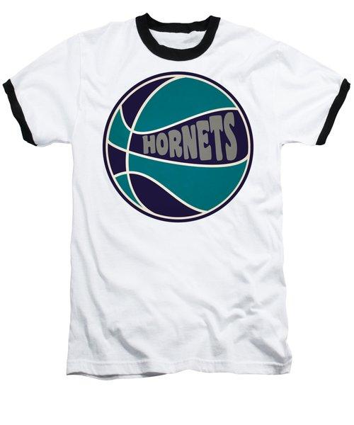 Charlotte Hornets Retro Shirt Baseball T-Shirt by Joe Hamilton