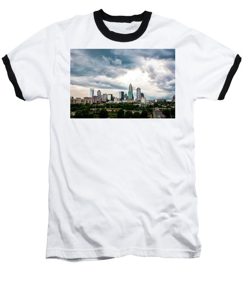 Baseball T-Shirt featuring the photograph Charlotte In The Clouds by Phyllis Peterson