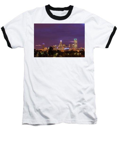 Charlotte, North Carolina Sunrise Baseball T-Shirt by Serge Skiba