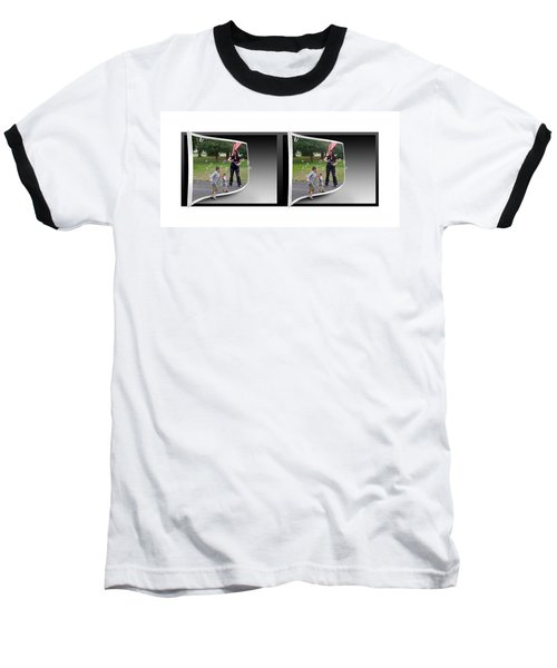 Baseball T-Shirt featuring the photograph Chasing Bubbles - Gently Cross Your Eyes And Focus On The Middle Image by Brian Wallace